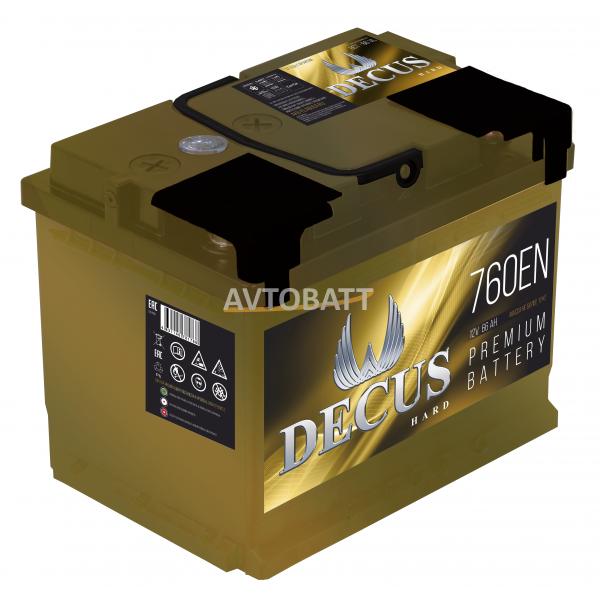 Аккумулятор DECUS 6СТ-66 66 Ah (о/п)