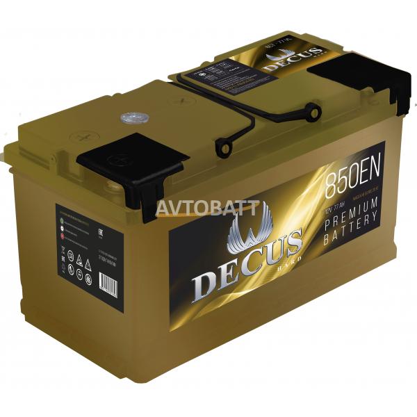 Аккумулятор DECUS 6СТ-77 77 Ah (о/п)