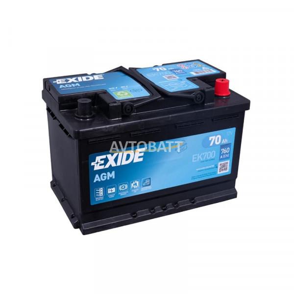 Аккумулятор EXIDE Micro-Hybride AGM Regenerative Braking EK700