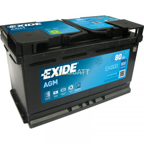 Аккумулятор EXIDE Micro-Hybride AGM Regenerative Braking EK800