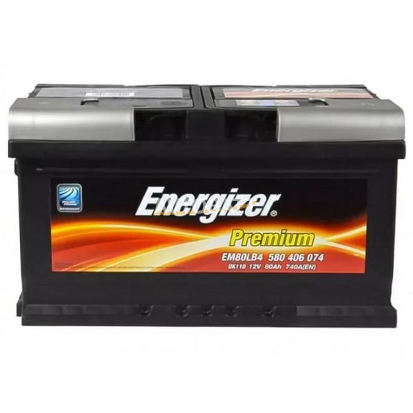 Аккумулятор Energizer 80е 580 406 074  PREMIUM EM80LB4