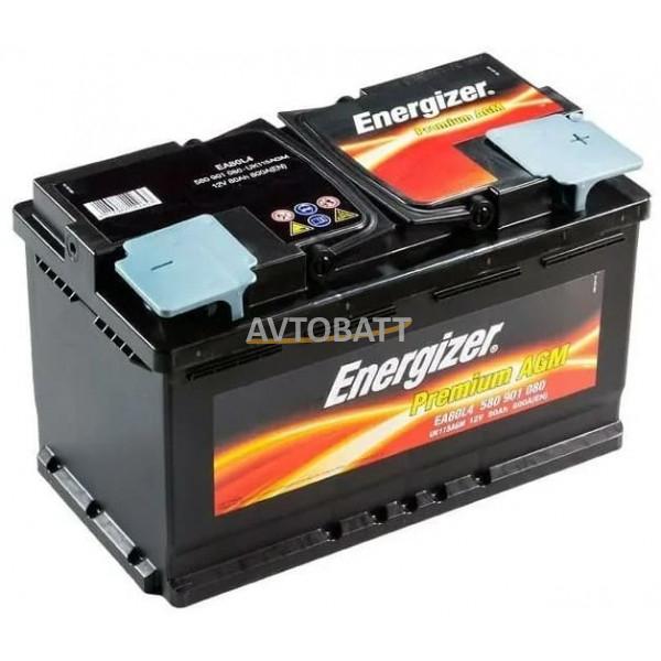 Аккумулятор Energizer 80е 580 901 080  AGM EA80L4