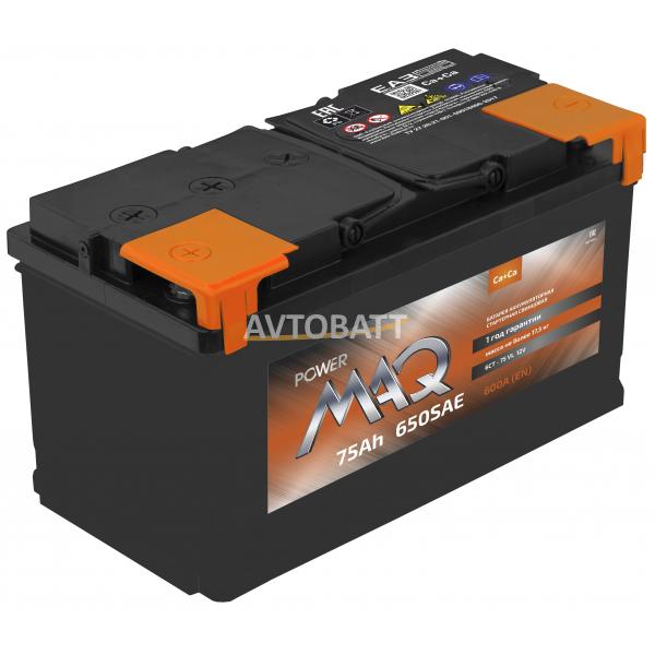 Аккумулятор Power MAQ 6СТ-75 75 Ah (о/п)