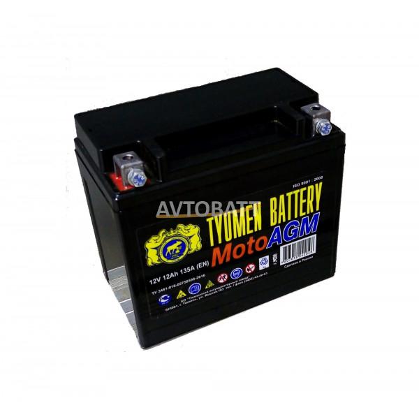 Аккумулятор Мото TYUMEN 6МТС-12 AGM 12 Ah(р)