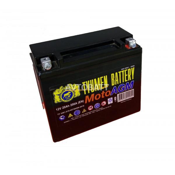 Аккумулятор Мото TYUMEN 6МТС-20 AGM 20 Ah(е)
