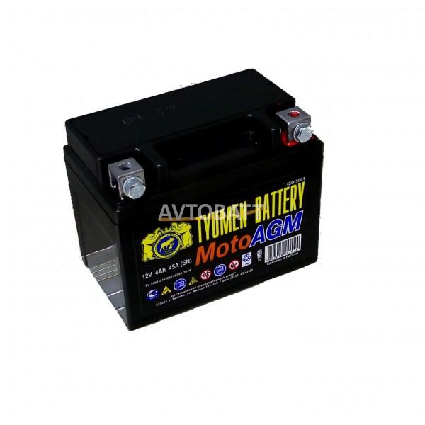 Аккумулятор Мото TYUMEN 6МТС-4 AGM 4Ah(е)