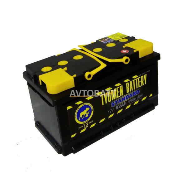 Аккумулятор TYUMEN STANDART низкий 82 Ah (о/п)