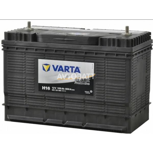 Аккумулятор VARTA 105е 605 103 080 Promotive Black 31S-900 амер кл (H16)