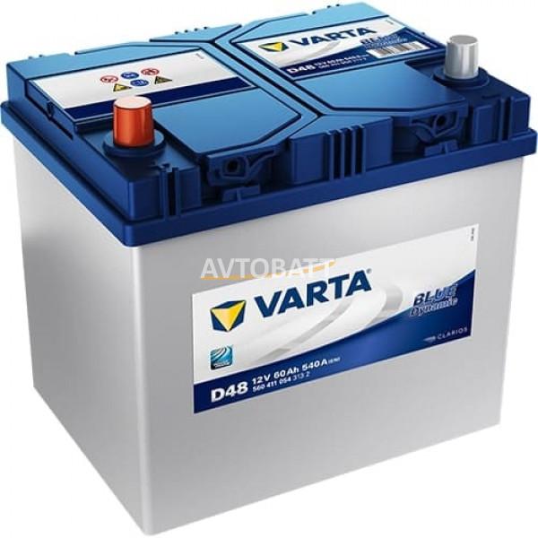 Аккумулятор VARTA 60 560 411 054 Blue dynamic-60Ач (D48)