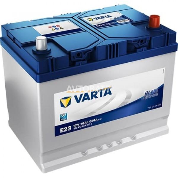 Аккумулятор VARTA 70e 570 412 063 Blue dynamic -70Ач (E23)