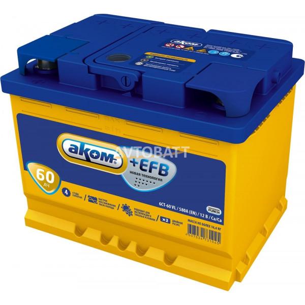 Аккумулятор АКОМ EFB 60 (e)