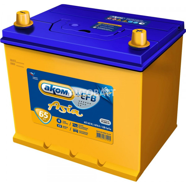 Аккумулятор АКОМ ASIA EFB 65 (e)