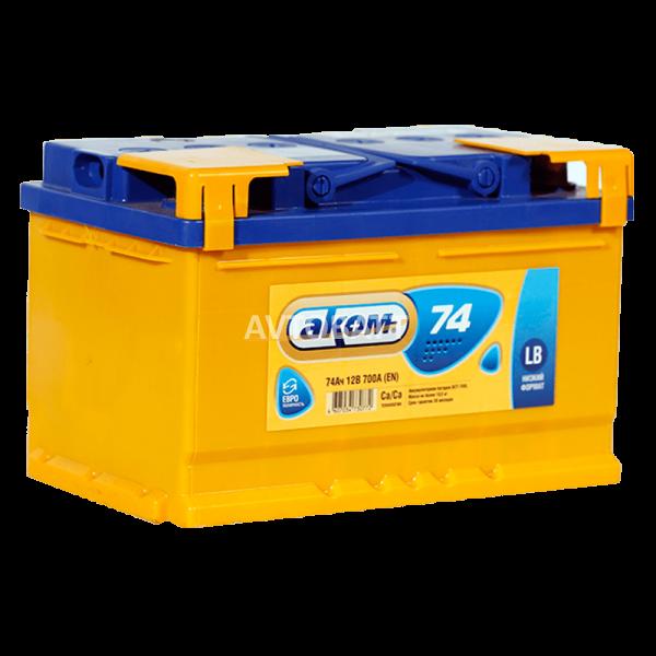 Аккумулятор АКОМ низкий 74 (e)