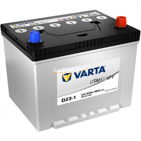 Аккумулятор Varta Стандарт 6СТ-55.0 (555 301 048) яп.ст/бортик