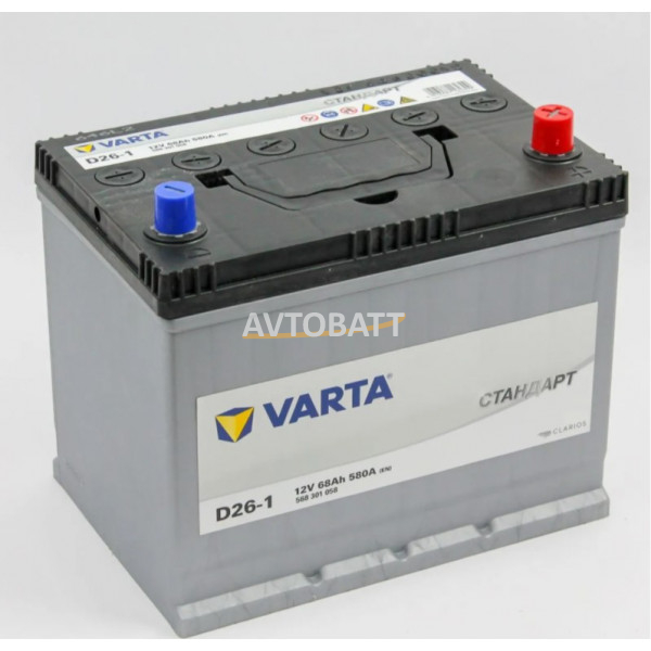 Аккумулятор Varta Стандарт 6СТ-68.0 (568 301 058) яп.ст/бортик