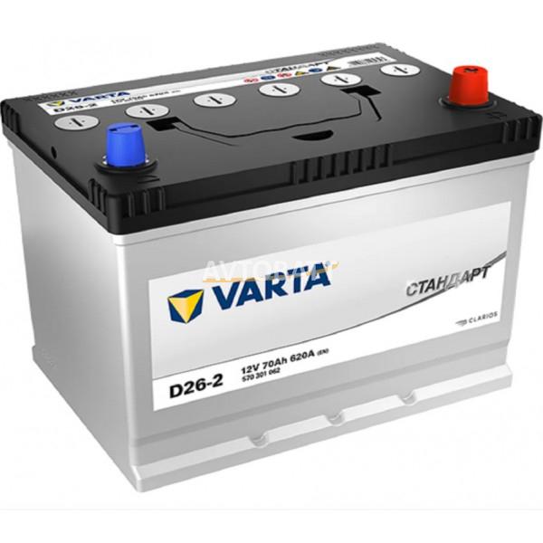 Аккумулятор Varta Стандарт 6СТ-70.0 (570 301 062) яп.ст/бортик