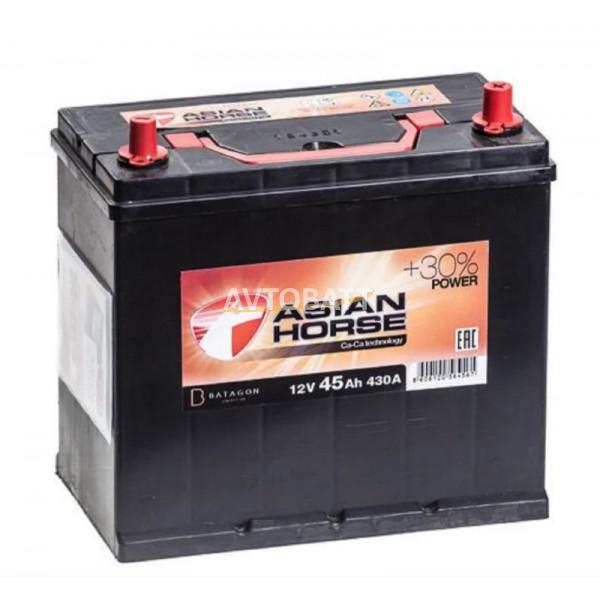 Аккумулятор Asian Horse 6СТ-45.0 тонк.кл/бортик