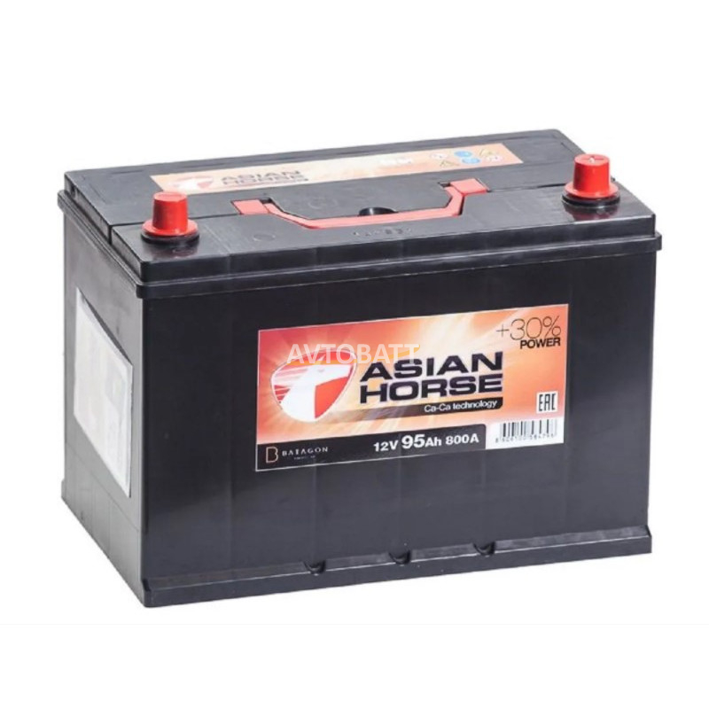 Аккумулятор Asian Horse 6СТ-95.0 бортик