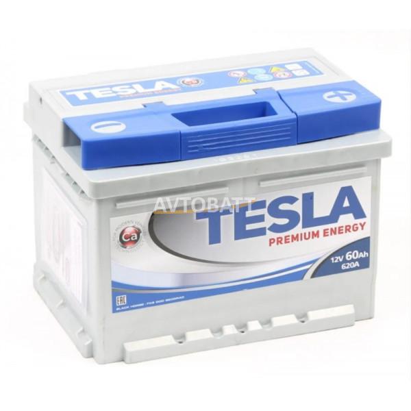 Аккумулятор TESLA PREMIUM ENERGY 6СТ-60.0 низкий