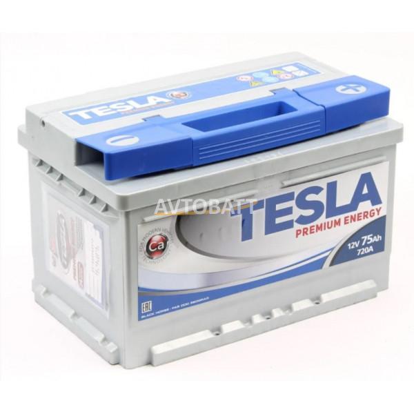 Аккумулятор TESLA PREMIUM ENERGY 6СТ-75.0 низкий