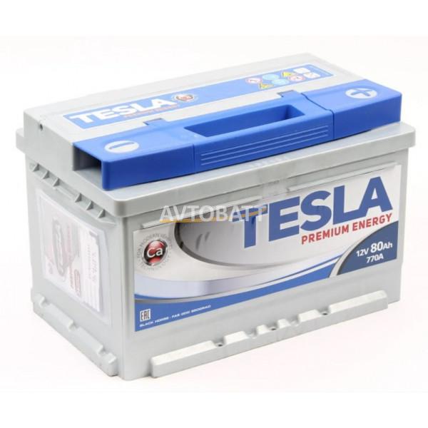 Аккумулятор TESLA PREMIUM ENERGY 6СТ-80.0 низкий