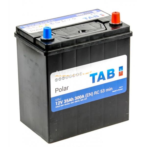 Аккумулятор TAB Polar  6СТ-35.0 (53520) яп.. ст./тонк. клеммы
