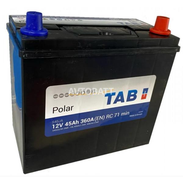 Аккумулятор TAB Polar  6СТ-45.0 (54523/84) яп ст/тонк.кл.с переходн.