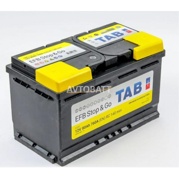 Аккумулятор TAB EFB Stop&Go 6СТ-80.0