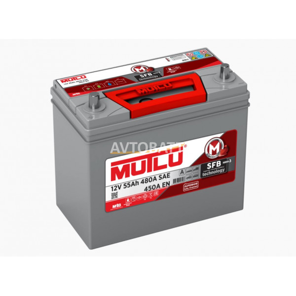 Аккумулятор Mutlu SFB M3 6СТ-55.1 (65B24R) тонк.кл.