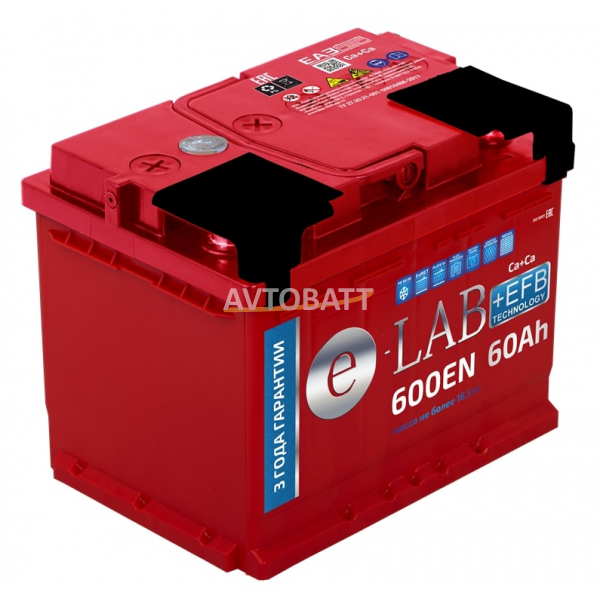 Аккумулятор ELAB EFB 60 Ah (о/п)
