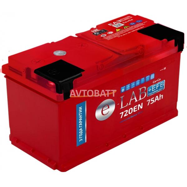 Аккумулятор ELAB EFB 75 Ah (о/п)