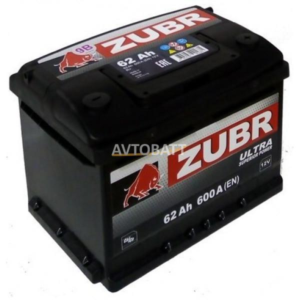 Аккумулятор ZUBR ULTRA 62 нов низк (е)