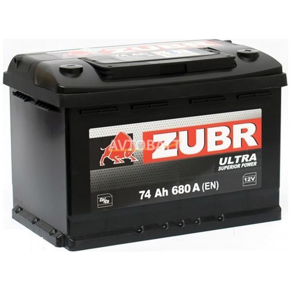 Аккумулятор ZUBR ULTRA 74 низкий (е)