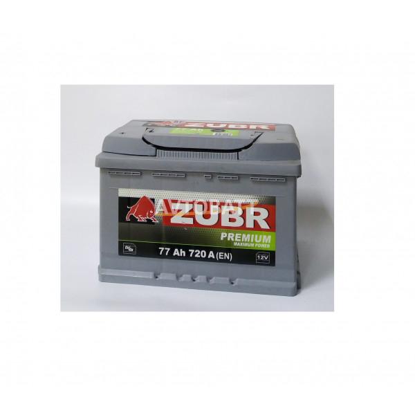 Аккумулятор ZUBR PREMIUM нов низкий 77 (е)